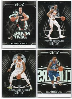 2019-20 Panini Noir Holo Silver Parallel /25 Pick Any Comple