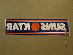 NBA Phoenix Suns Vintage KTAR Sponsored Logo Basketball Bump