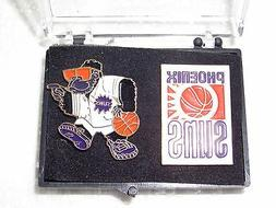 Phoenix Suns Collectors Pins Set of 2 Styles with Case All M
