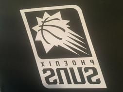 PHOENIX SUNS NBA WHITE VINYL STICKER / DECAL