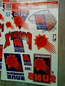 Phoenix Suns Window Decal Clings,Removable NBA Licensed Foot