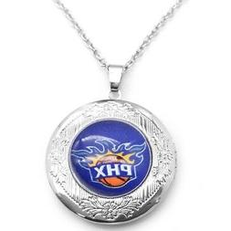 """Phoenix Suns Womens 925 Silver 20"""" Link Chain Necklace And P"""